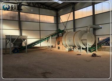 时产10-15吨砂子烘干设备
